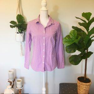 J. Crew Lilac Purple Gingham Button Down Shirt